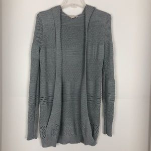 Pink Republic Womens Cardigan Open Front Gray XS